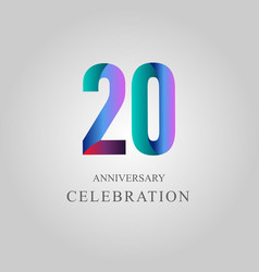 20 year anniversary celebration template design vector