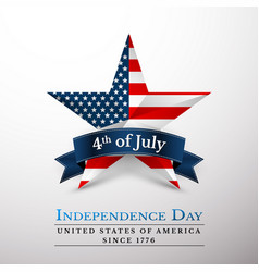 4 th july usa star in national colors america vector image