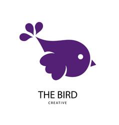 abstract bright bird sign design modern logos vector image