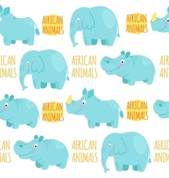 African animals seamless pattern vector