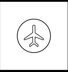 Airplane mode line icon mobile sign vector