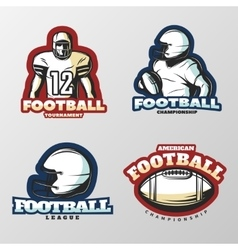 American Football Tournaments Logos vector