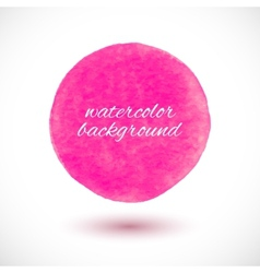 background with watercolor sphere vector image