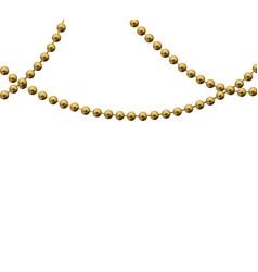 beautiful gold beads vector image