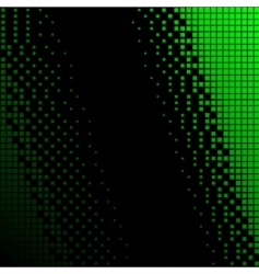 Black and green halftone background vector