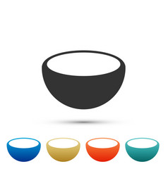 bowl icon isolated on white background vector image