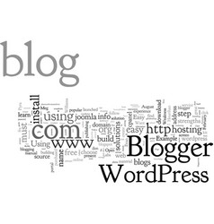 Build your blog vector