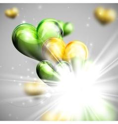 Bunch multicolored balloon hearts vector