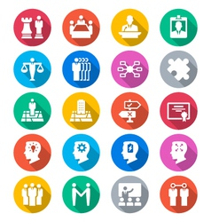 Business flat color icons vector