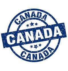 Canada blue round grunge stamp vector