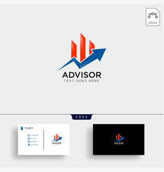 Charts financial graphic logo template vector