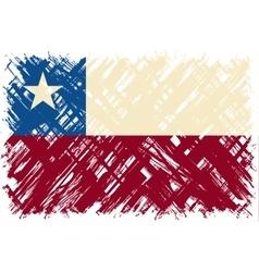 Chilean grunge flag vector image