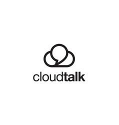 cloud talk logo design concept vector image