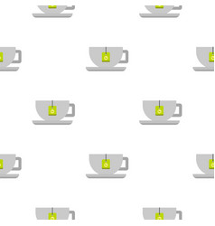Coffee cup pattern flat vector