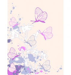 Colored abstract floral background vector