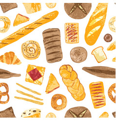colorful seamless pattern with tasty homemade vector image