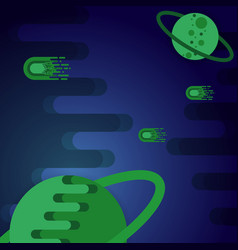 created green flat space abstract background vector image