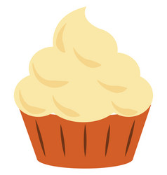 cupcake on white background vector image