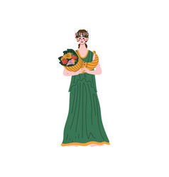 Demetra olympian greek goddess ancient greece vector