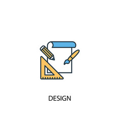 design concept 2 colored icon simple blue element vector image