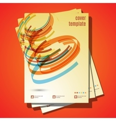 Design for Cover Layout in A4 size Modern vector image