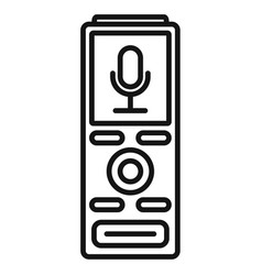 digital dictaphone icon outline style vector image