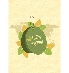 Eco friendly shopping tag vector