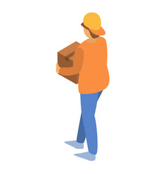 fast delivery man icon isometric style vector image