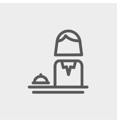 Female receptionist thin line icon vector
