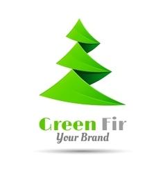 Fir-tree logo template business icon vector