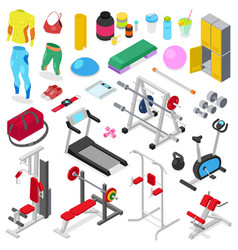 fitness equipment gym machine for doing vector image