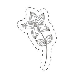 Flower garden decoration cut line vector