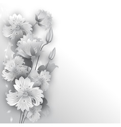 flowers graphic styl vector image