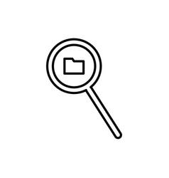 folder search icon vector image