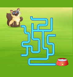 Game cats maze find way to the milk vector