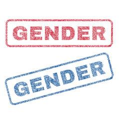 Gender textile stamps vector