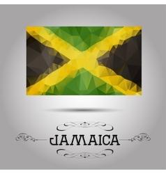 geometric polygonal Jamaica flag vector image