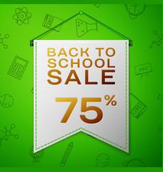 Grey pennant back to school sale seventy five vector