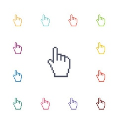 hand pointer flat icons set vector image