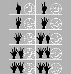 Hands and numbers vector