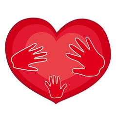 Hands on Heart vector image
