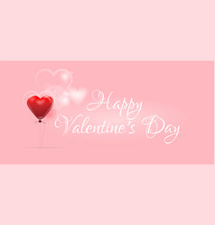 happy valentine dayred heart shaped vector image