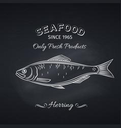 herring hand drawn icon vector image