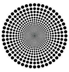 Hypnotic circle vector