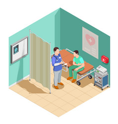 Inspection at doctor isometric composition vector