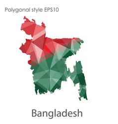 Isolated icon bangladesh map polygonal vector