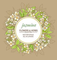 Jasmine frame vector