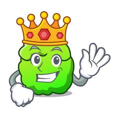 King shrub mascot cartoon style vector