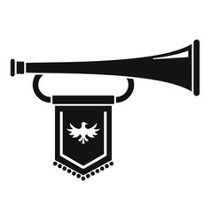 Knight trumpet icon simple style vector