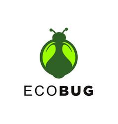 Leaves bug logo template vector
